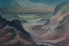14 Abendstimmung am Meer Aquarell 1963
