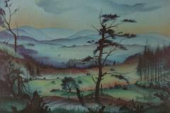 16 Hessische Landschaft Aquarell 1946