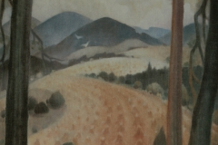 20 Landschaft mit Weizenfeld Öl 1980
