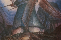 21 Windmühle Worpswede Aquarell 1970