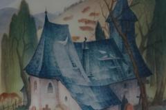 41 Kirche in Dalwigsthal Aquarell 1977