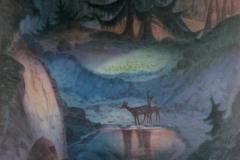 42 Reh am Waldsee Aquarell 1978