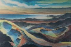 46 Sonnenuntergang am Meer Aquarell 1962