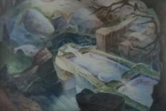 47 Fliessender Brunnen Aquarell 1967
