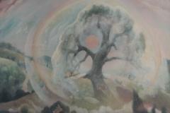 48 Blütenbaum bei Sonnenaufgang Öl 1977