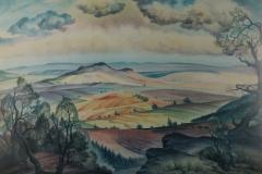 53 Schwäbische Alb Aquarell 1947
