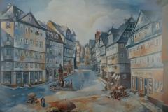 61 Marktplatz in Marburg Öl 1955