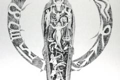 64 Tierkreismensch Tusche