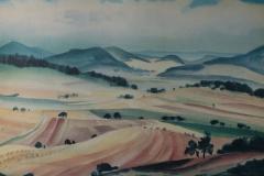 71 Der Rimberg und seine sieben Brüder Aquarell 1947
